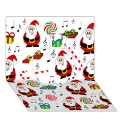 Xmas song Apple 3D Greeting Card (7x5)