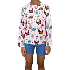Xmas song Kids  Long Sleeve Swimwear