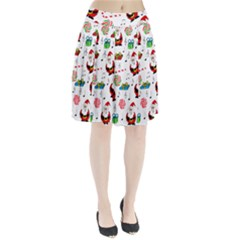 Xmas song Pleated Skirt