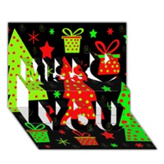 Merry Xmas Miss You 3d Greeting Card (7x5)