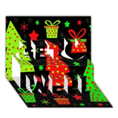 Merry Xmas Get Well 3D Greeting Card (7x5)