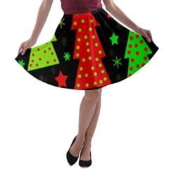 Merry Xmas A-line Skater Skirt