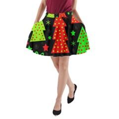 Merry Xmas A-Line Pocket Skirt