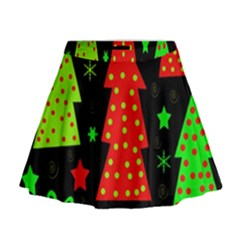 Merry Xmas Mini Flare Skirt