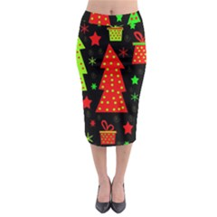 Merry Xmas Midi Pencil Skirt