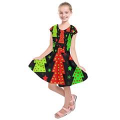 Merry Xmas Kids  Short Sleeve Dress