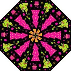 Colorful Xmas Hook Handle Umbrellas (Medium)