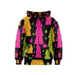 Colorful Xmas Kids  Zipper Hoodie