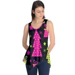 Colorful Xmas Sleeveless Tunic