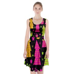 Colorful Xmas Racerback Midi Dress