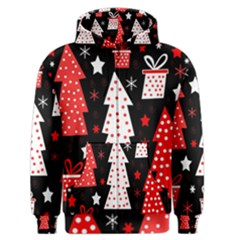 Red playful Xmas Men s Zipper Hoodie