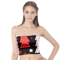 Red playful Xmas Tube Top