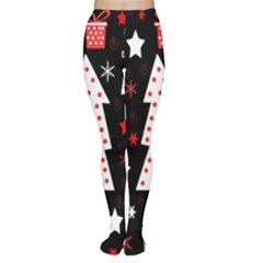 Red playful Xmas Women s Tights