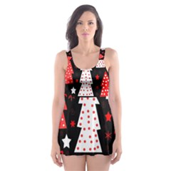 Red playful Xmas Skater Dress Swimsuit