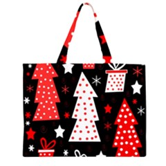 Red playful Xmas Large Tote Bag