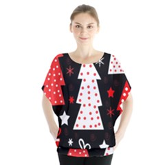Red playful Xmas Blouse
