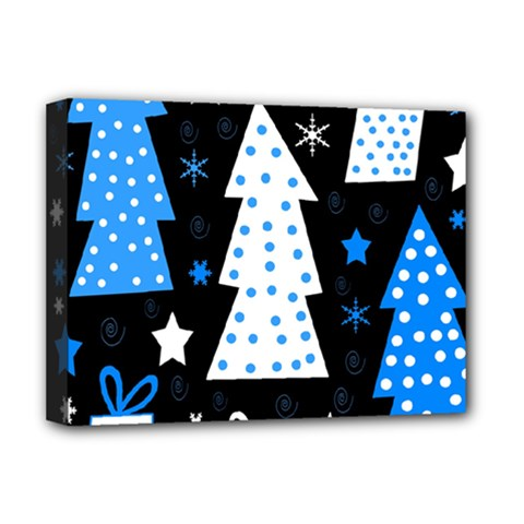 Blue playful Xmas Deluxe Canvas 16  x 12