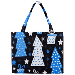 Blue playful Xmas Mini Tote Bag
