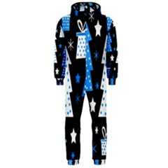 Blue playful Xmas Hooded Jumpsuit (Men)