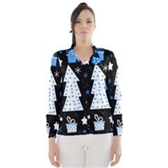 Blue playful Xmas Wind Breaker (Women)