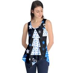 Blue playful Xmas Sleeveless Tunic