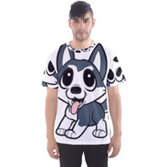 Pomsky Cartoon Men s Sport Mesh Tee