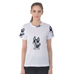 Pomsky Cartoon Women s Cotton Tee