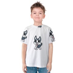 Pomsky Cartoon Kids  Cotton Tee
