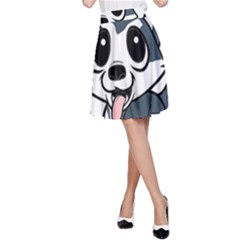 Pomsky Cartoon A-Line Skirt