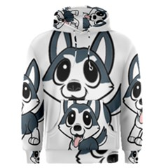 Pomsky Cartoon Men s Pullover Hoodie