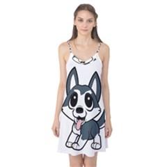 Pomsky Cartoon Camis Nightgown