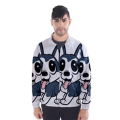 Pomsky Cartoon Wind Breaker (Men)
