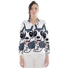 Pomsky Cartoon Wind Breaker (Women)