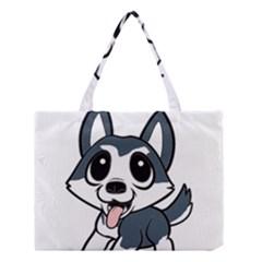 Pomsky Cartoon Medium Tote Bag