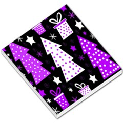 Purple Playful Xmas Small Memo Pads