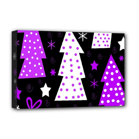 Purple Playful Xmas Deluxe Canvas 18  x 12