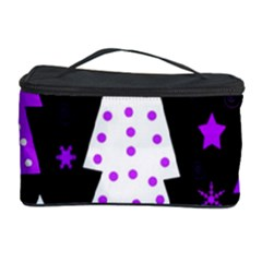 Purple Playful Xmas Cosmetic Storage Case