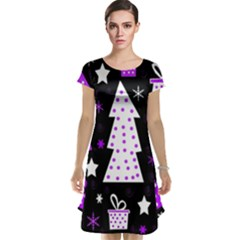 Purple Playful Xmas Cap Sleeve Nightdress