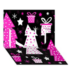Pink playful Xmas I Love You 3D Greeting Card (7x5)
