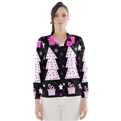 Pink playful Xmas Wind Breaker (Women)