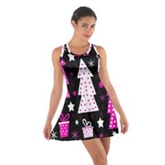 Pink playful Xmas Cotton Racerback Dress