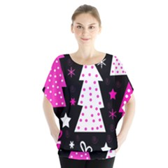 Pink playful Xmas Blouse