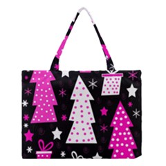 Pink playful Xmas Medium Tote Bag