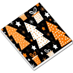 Orange playful Xmas Small Memo Pads