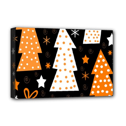 Orange playful Xmas Deluxe Canvas 18  x 12