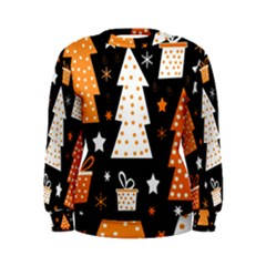 Orange playful Xmas Women s Sweatshirt
