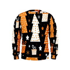 Orange playful Xmas Kids  Sweatshirt