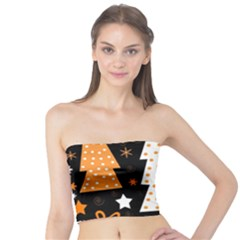 Orange playful Xmas Tube Top