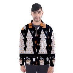 Orange playful Xmas Wind Breaker (Men)