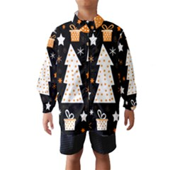 Orange playful Xmas Wind Breaker (Kids)